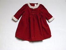 """Gymboree """"Mountain Cabin"""" Red Corduroy Holiday Occasion Lined Dress, 18-24 mos."""