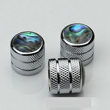 3 Pcs Chrome Dome Guitar Knobs volume&tone knob abalone shell button cap
