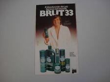 advertising Pubblicità 1981 BRUT 33 e ADRIANO PANATTA