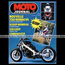 MOTO JOURNAL N°716 ★ HONDA VFR 750 ★ XLR 125, XLV DAKAR, YAMAHA FJ 1200 1985
