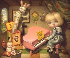 Mark Ryden Ecstasy of Cecelia Pink Piano Yin Yang Bunny Spread Love No Hate