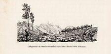OZANNE CHARGEMENT DE VARECH DESCENDANT UNE COTE IMAGE 1885 OLD PRINT
