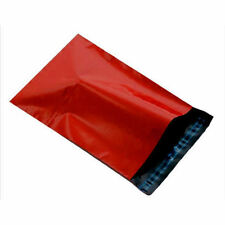"10 RED 10"" x 14"" Mailing Mail Postal Parcel Packaging Bags 250x350mm Poly"