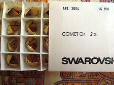 Swarovski Comet or Vintage Art 3004 16mm 24 pieces a tray NOS