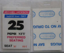 MICHAEL JACKSON BAD Tour PREFERRED SEATING PASS #25