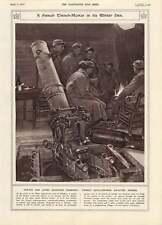 1917-pistola de mortero de trinchera francés Pit como viviendas