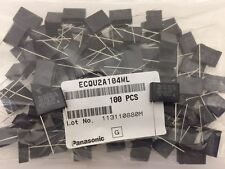(100 pcs) ECQ-U2A104ML Panasonic, .1uF 250vac Film Capacitor