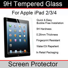 Genuine Tempered Glass Screen Protector for Apple iPad 2/3/4