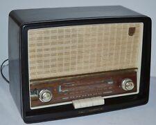 50's Vintage PHILIPS LW/MW/FM (UHF) 3-band Bakelite Valve Radio B3G63A [PL2080]