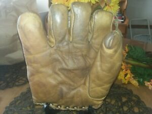 NICE Old Antique 1920's RAWLINGS Model  Leather Baseball Glove Vintage