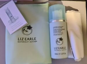 NEW Liz Earle Cleanse & Polish Cleanser, Deep Cleansing Mask, Cloth + Zipped Bag
