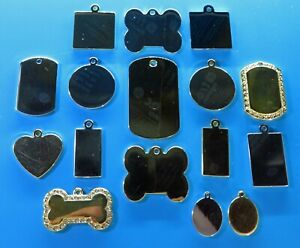 Expressions Engravers Luxury Gold and Rhodium Plated pet/dog id tag