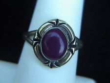 ring size 7-1/2 women's beautiful sterling silver and burgundy