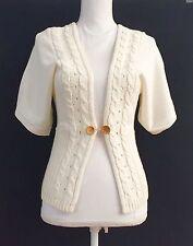 NWOT Mango MNG Sport Ivory Ecru Sweater SizeS Knit Jacket Cardigan Button  Alpaca ed5b73bf5