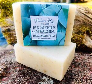 Eucalyptus & Spearmint Homemade Soap / 2 Bars