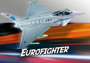 Revell 06452 Build & Eurofighter Typhoon, Avion Kit de Construction Modèle 1:100