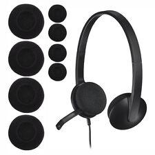 Coussins Mousse d'écouteurs Remplacement pour Logitech 65mm 2.35'' Casque Noir