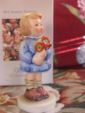 """Hummel Girl with Nosegay Flowers W Germany Figurine 3.5"""" 239/A Tmk-6 1989 Mib!"""