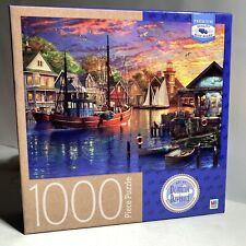 "Dominic Davidson 'American Harbour Sunset' 1000 Piece Puzzle 20""x27"" Cardinal"