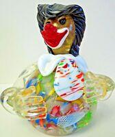 Murano Art Glass Italian Avem Clown Paperweight