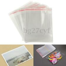 100x Clear Cellophane Cello Display Bags Self Adhesive Seal Plastic OPP For Card