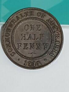 1918 Australian Half Penny coin