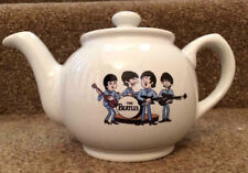THE BEATLES cartoon SMALL WHITE 1 CUP SIZE TEAPOT unused