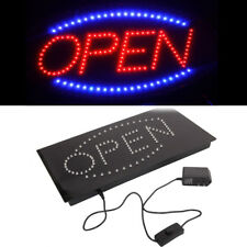 Bright Animated LED Vertical Rectangle Open Business Closed Store Shop Sign neon