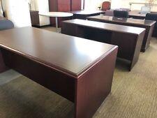 Executive Set Desk & Credenza by Kimball Office Furniture in Mahogany Laminate