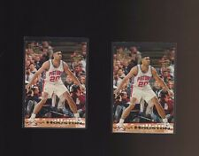 1993-94 Topps Stadium Club Members Only #247 Allan Houston Pistons Lot of 2