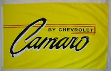 Camaro Premium Car Flag 3' x 5' Indoor Outdoor Yellow Banner (USA Seller)