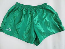 VINTAGE Short ROMBO nylon polyamide vert XL made in France shiny