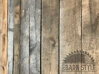 Premium Vintage Oak Reclaimed Barn Wood } Up to 7ft Boards Length Options