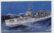 "(w10q3-181) H.M. Light Cruiser, ""DAUNTLESS"",  c1940 Unused VG-EX"