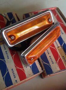 Datsun 180B 810 SSS BLUEBIRD Coupe 77-78 side marker lights Lamps Genuine Nos