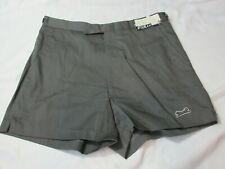Vintage 80s Nwt Le Tigre Size 29 Grey Tennis Shorts Polyester Cotton