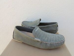 UGG MOSS GREEN HENRICK PERF LEATHER VENETIAN DRIVING LOAFERS, US 9/ EUR 42 ~NEW