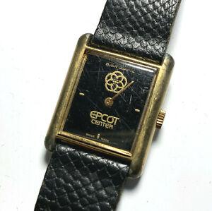 Disney Vintage Wristwatch EPCOT dated 1982 Elgin Quartz Swiss Made Used Worn