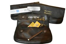 Personalised Black Soft Leather Tobacco Pouch Fully Lined