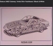 Datsun 240Z Cutaway. Artist Shin Yoshikawa/ Car Poster!!!