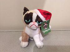 Grumpy Cat with Santa Hat Plush 7 inch Sitting Christmas Cute New