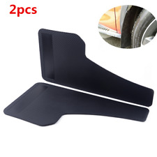 Black 2Pc ABS Moulding Universal Fender Parts Racing Car Mud Flap Splash Guards