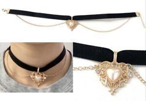 Gothic Black Lace Necklace Collar Choker Halloween Retro Vintage Chain Vampire