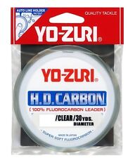 Yo-Zuri H.D. Carbon 20lb/30yd 100% Fluorocarbon Leader Fishing Line - Clear