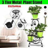 3 Tier Metal Plant Stand Display Shelf Home Garden Ornaments In/Outdoor 67x  .-