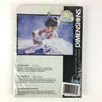 "1999 Dimensions No Count Cross Stitch Kit CINDERELLA 7"" x 5"" New Sealed"