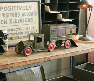 Vtg Antique Structo Airport Mail Truck Depression Era Pressed Steel Toy 1920's