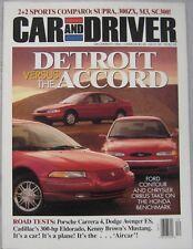 Car & Driver 12/1994 featuring Toyota, Nissan, BMW, Lexus, Jaguar, Porsche