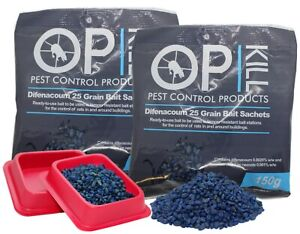 Opkill Professional Rat & Mouse Killer Poison Grain -  Twin Pack 300g Strongest