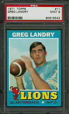 1971 TOPPS #11 GREG LANDRY RC PSA 9 MINT DETROIT LIONS ROOKIE (R) FOOTBALL